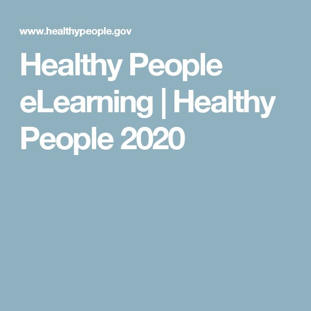 Healthy People eLearning   Healthy People 2020