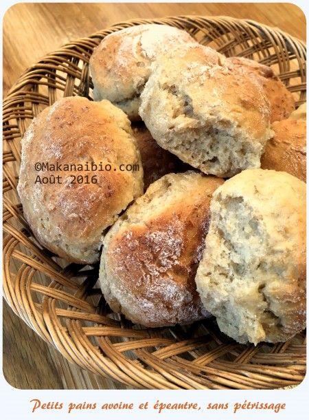 Petits pains aux flocons d'avoine et épeautre : 2e version, sans pétrissage