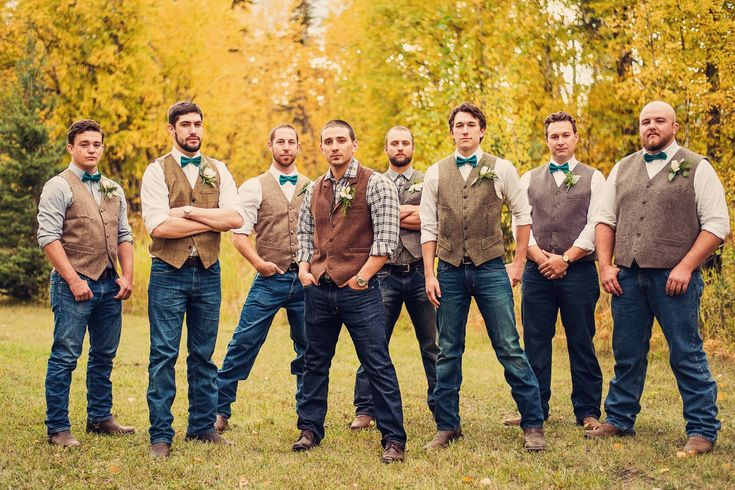 Wedding photo. Wedding inspiration. Fall wedding. Vintage wedding. Rustic wedding. Groomsmen. Montana wedding. Rocky Mountain wedding. Copper and teal wedding. Tweed vests.
