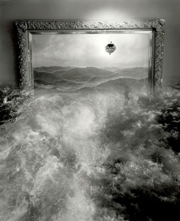 Art... by Jerry Uelsmann (Photomontage). ☚