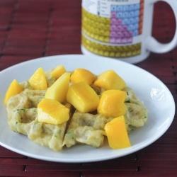 sweet zucchini waffles with mango by spabettie