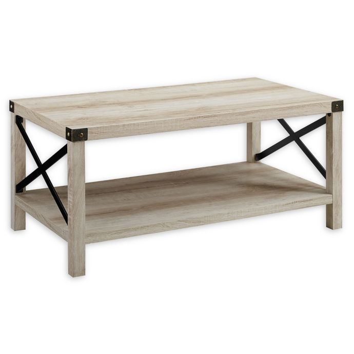 Forest Gate Englewood 40 Inch Coffee Table In White Oak With