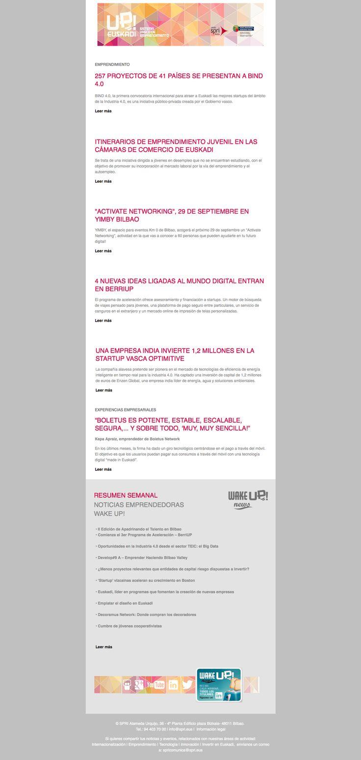 Noticias de Emprendimiento/ UP Euskadi (19 25 septiembre