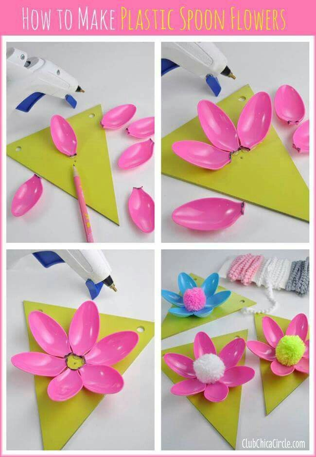 Flores (use paper plates painted green cut like lily pads instead of wooden triangles)