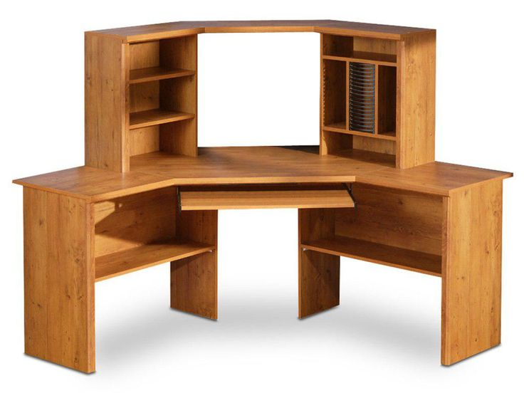Wooden Corner Computer Desk - organizing Ideas for Desk Check more at  http://