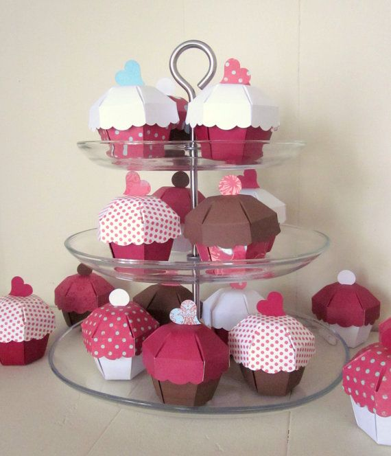 Cupcake Party Favor Boxes  Set of 36 by PaperAcorn on Etsy,
