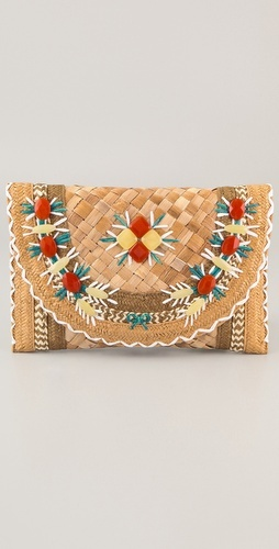 like it  Anya Hindmarch  Ipanema Straw Clutch  Style #:ANYAS40067  $595.00    select size: One