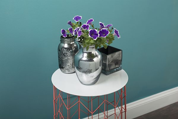 Mirror paint project flower vase with a mirror finish for What can you paint glass with