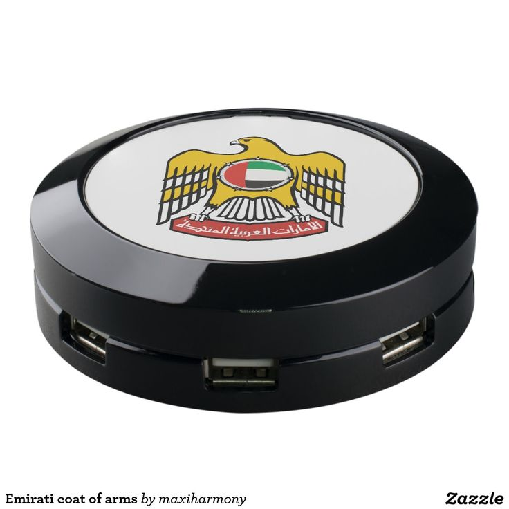 Emirati coat of arms USB charging station