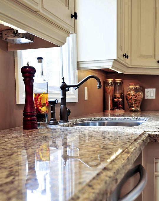 71 best granite kitchen countertops islands images on pinterest. Black Bedroom Furniture Sets. Home Design Ideas