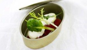 Receta de Atún rojo semicurado con espuma de escabeche - Gastronomía