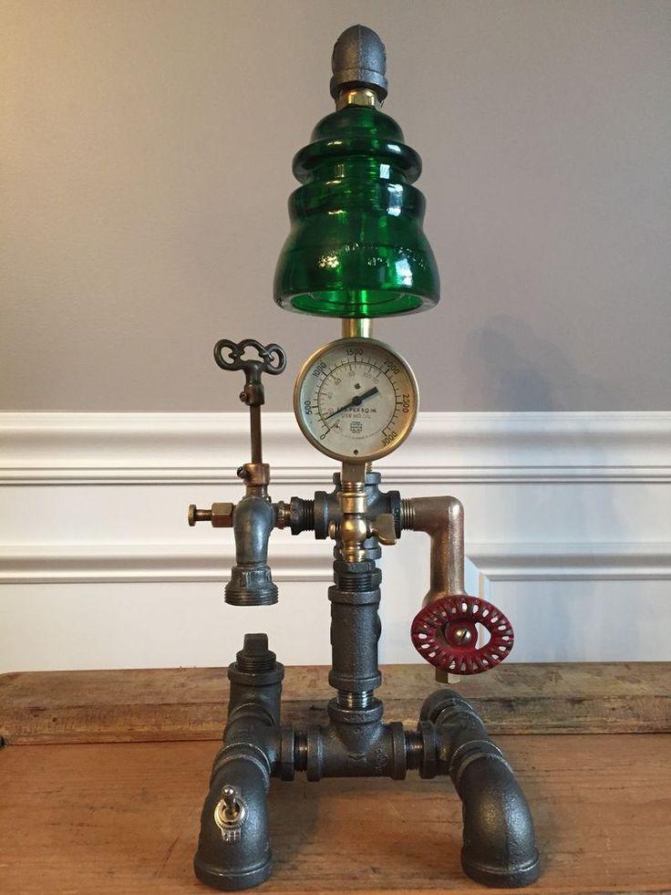 Steampunk Vintage Lamp Industrial Table Art Brass