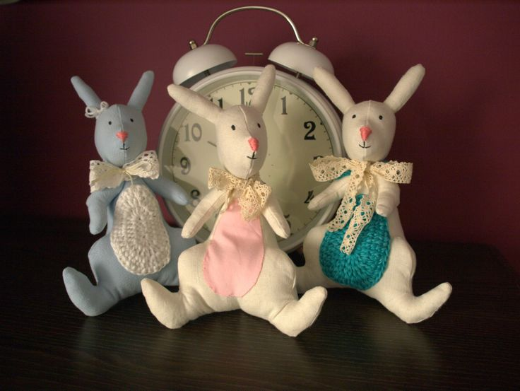 Ręcznie wykonane króliczki