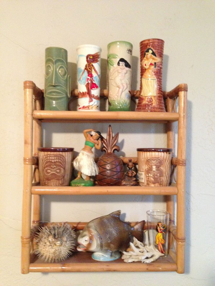 A small portion of my tiki mug collection-Wendy W.