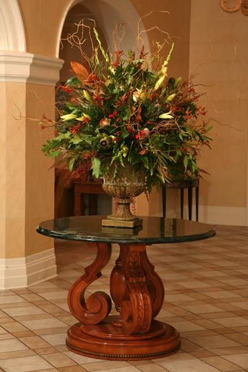 Extra large silk flower arrangements bing images for Foyer flower arrangement