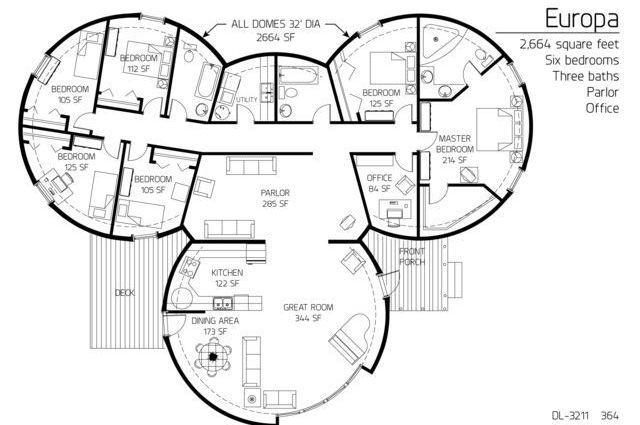 92 Best Floorplans Images On Pinterest Dome House Cob