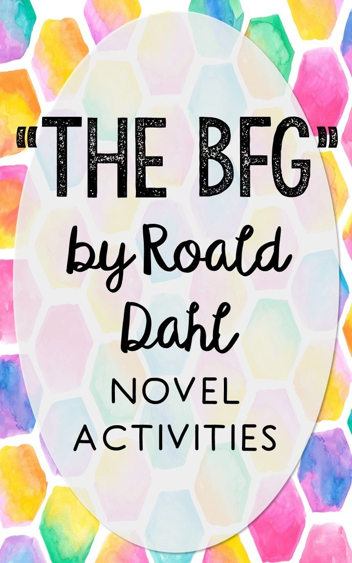 The BFG by Roald Dahl. This NO-PREP resource is perfect if you're looking for novel activities that are engaging and demonstrate comprehension WITHOUT multiple choice tests! This unit includes vocabulary terms, poetry, author biography research, themes, character traits, one-sentence chapter summaries, and note taking activities. You'll also find an author quote poster, a tri-fold bookmark, and character/vocabulary wall cards (plus EDITABLE cards!).