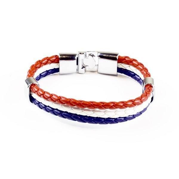 Support France Leather Unisex Bracelet