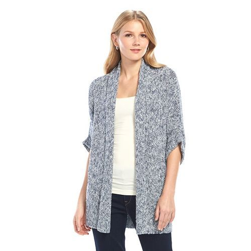 SONOMA life + style Dolman Open Front Cardigan - Women's/Color: Glacier gray