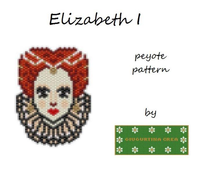 Elizabeth I #elizabeth #queen #peyotestitch #miyuki #delica