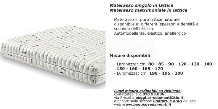 Grande scelta di materassi in lattice nel settore #riposarebene di #PoggiArredamenti