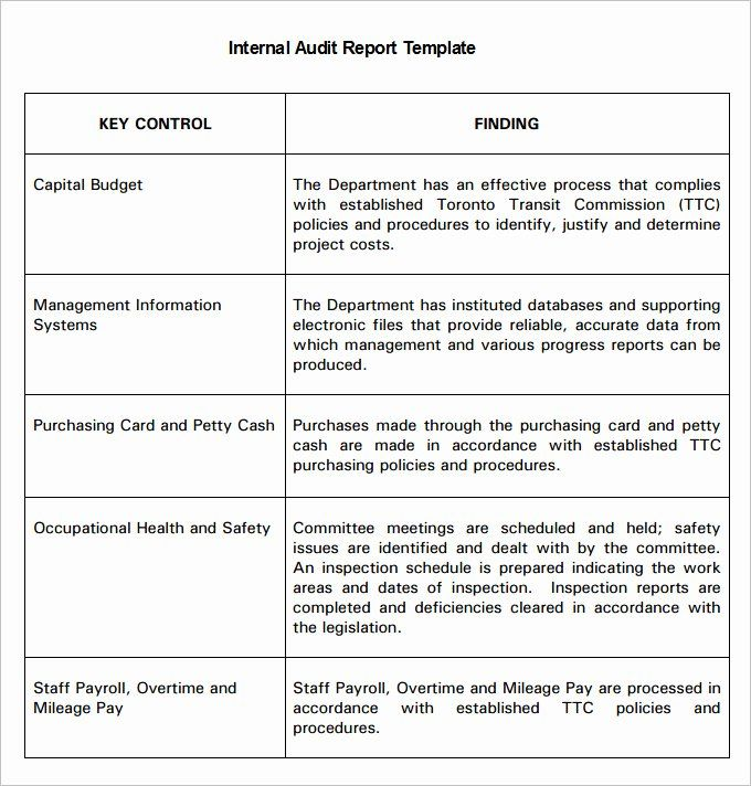 30 Internal Audit Plan Template In 2020 With Images Report