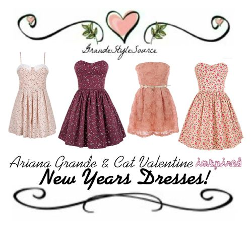 Ariana Grande & Cat Valentine Inspired New Years Dress.  » click here to view them all «    My Twitter: ArianasOurQueen  My Ask.fm: ArianasOurQueen  Feel free to ask me anything, im here for you all ♡