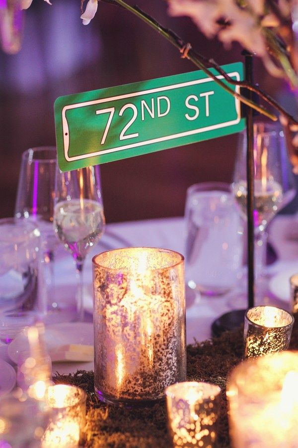 Winter In New York themed wedding -table names