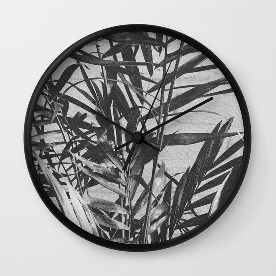 Tropical Plant Print I Wall Clock