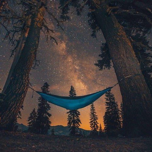 perfect evening - theme   into the wild - camping - nature - wilderness - camp - hammock - stars - explore - adventure - trip - bucket list - photography - inspiration - idea - ideas