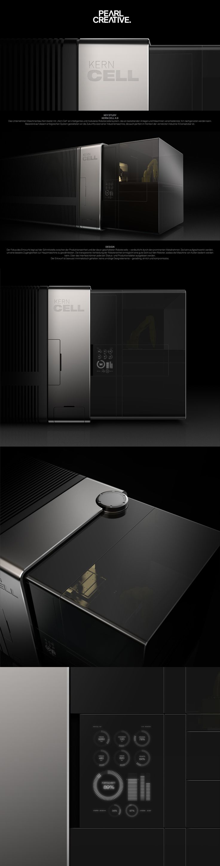 PEARL CREATIVE industrial design / UI for Kern Cell