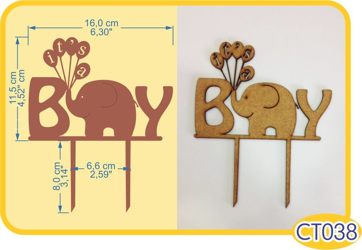 It's a Boy Cake Topper. -Pedidos/InquirIes to: crearcjs@gmail.com