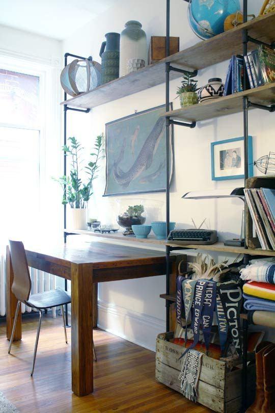 Natalie and Kevin's Perfect Parkdale Perch House Tour #shelves #office