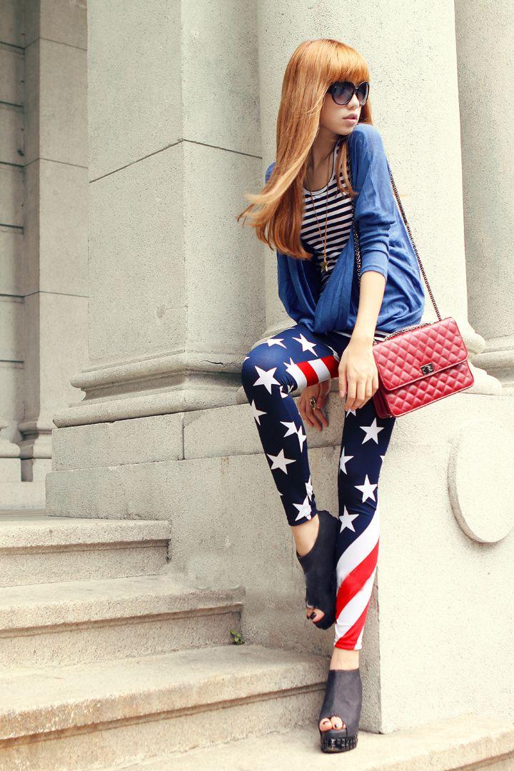 Flag Design Fashion Legging