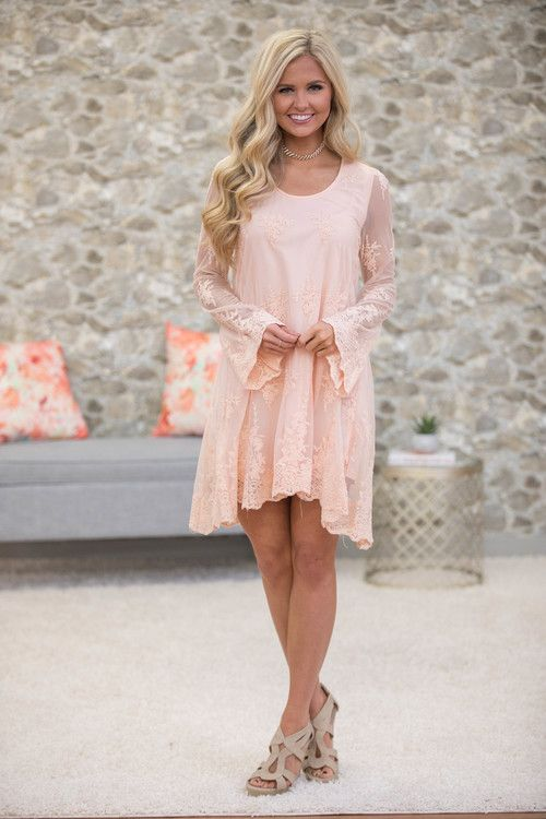 Simply Radiant Lace Dress - The Pink Lily