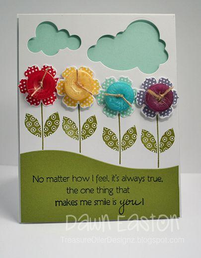 Flower buttons: