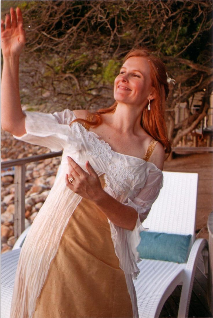 """Lesley""""s wedding dress made by mystic rose"""