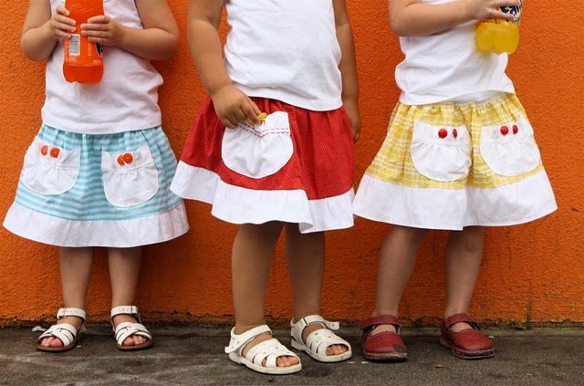 Cute skirts for little girls.  A really neat tutorial with all kinds of sewing hints for those of us who are not that experienced at sewing.