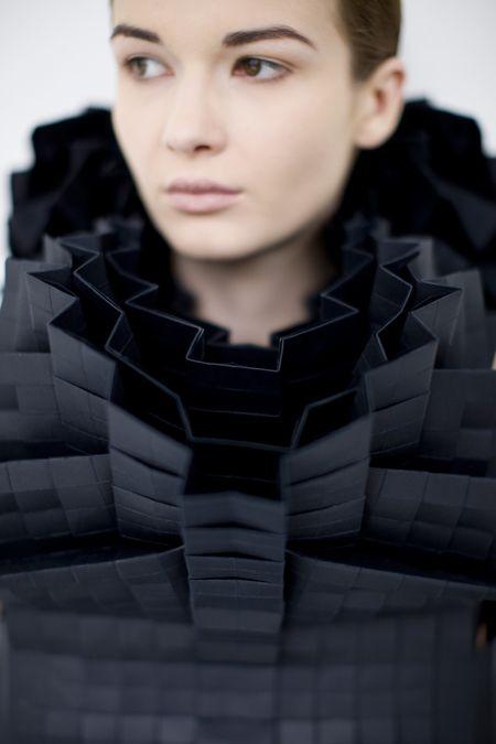 Fashion Architecture - folds & texture, sculptural fashion design - Morana Kranjec