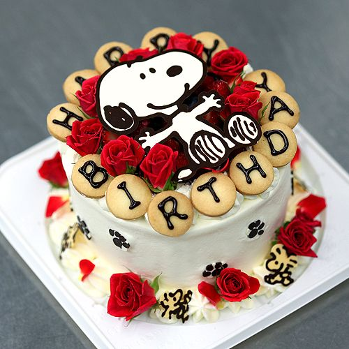 Snoopy ツ - birthday cake.........I would love this, I don't care if I am all grown up, I wannit! :D
