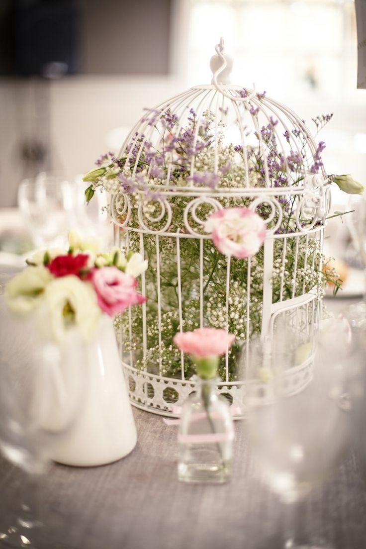 Centro de mesa Jaula Bird Cage for flowers Wedding flowers Foto de Norma Grau