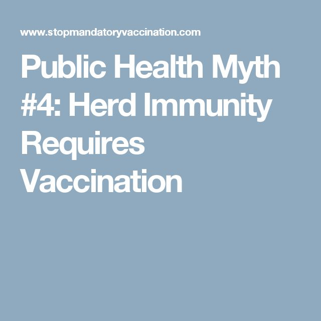 Public Health Myth #4: Herd Immunity Requires Vaccination