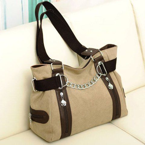 GET $50 NOW | Join RoseGal: Get YOUR $50 NOW!http://www.rosegal.com/tote/casual-chain-and-canvas-design-tote-bag-for-women-519847.html?seid=6830184rg519847