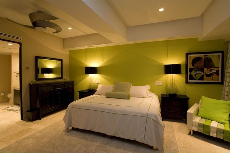 Beautiful bedroom at a Penthouse in the beachfront condominium development Residencias Molino de Agua, in downtown Puerto Vallarta, Mexico