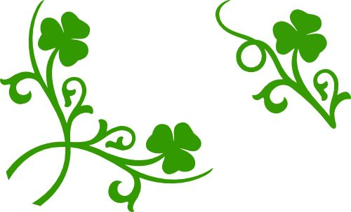 Shamrock corner and accent free svg files