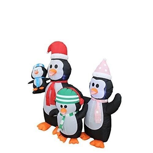 Christmas Penguins Family Airblown Inflatable 5 Ft Yard Lighted Xmas Decor #easy_shopping08