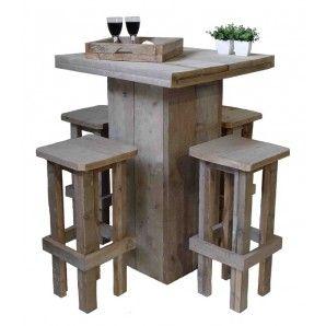 Barset van steigerhout   Furniture diy, Kitchen crashers ...