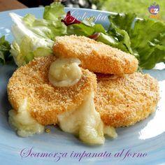 Scamorza impanata al forno, buonissima e golosa! come fritta, ma molto più leggera.