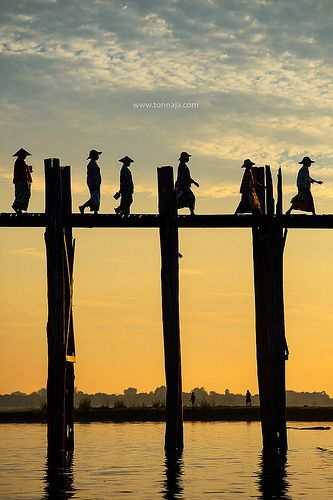 crescentmoon06:U Bain Bridge ~ Mandalay, Myanmar
