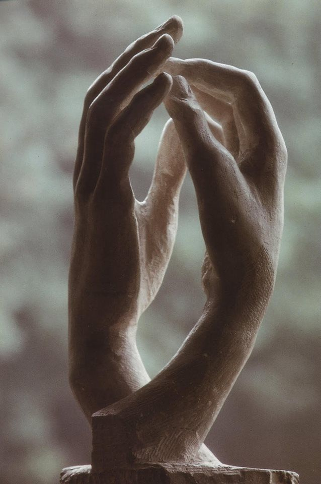 Auguste Rodin. Love the hands, always have -- know a photographer that took a series on hands as well. Negatives are around somewhere.